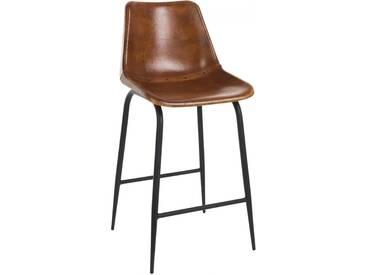 Chaise bar cuir metal BENANDARAH by J-Line