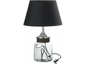 Lampe de salon verre aluminium BALGOWNIE by J-Line