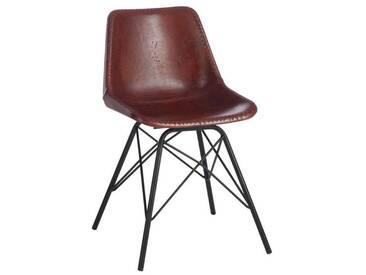 Chaise loft cuir metal BENARABY by J-Line