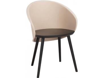 Chaise penez noir marron BENDOLBA by J-Line