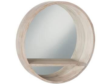 Miroir rond tablette bois blanc BIG PATS CREEK by J-Line