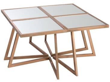 Table 4 parties carrée cuivre BLACK SWAMP by J-Line