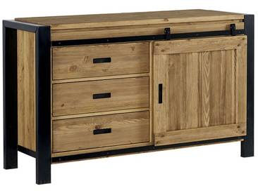 Buffet en pin massif 1 porte LOUNDGE