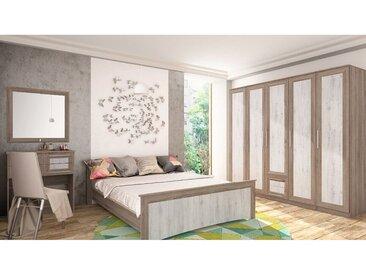 Chambre complète LAURA 160*200 cm - Chene Clair