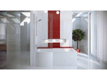Baignoire asymétrique INSPIRO 150/160/170 cm x 70 cm avec pare baignoire - Gauche - 170cm