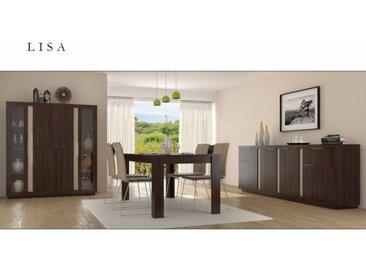 Salle à manger complète LISA Chocolat - Avec