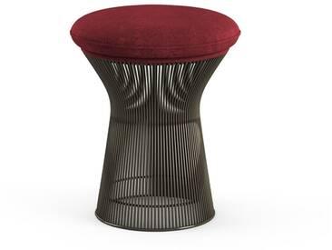 Knoll International Tabouret Platner  - Circa rouge bordeaux - peinture bronze métallisé