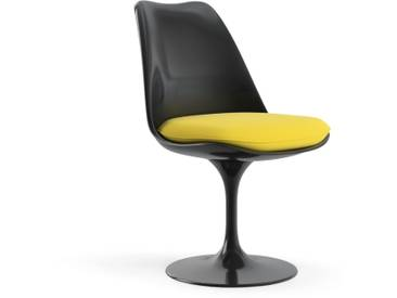 Knoll International Saarinen Tulip Stuhl - noir - Coussin dassise - KnollDrehbar - Ultrasuede - Ultrasuede - jaune