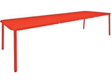 Emu Table en aluminium Yard - L (extractible) - rouge