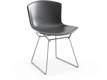 Knoll International Bertoia Plastic Side Chair - gris - Chrome