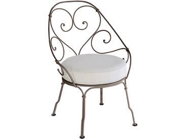 Fermob Fauteuil 1900 Cabriolet - gris blanc - 09 rouille