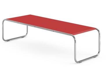 Knoll International Table Breuer Laccio  - Stratifié rouge - 136 x 34 x 48 cm