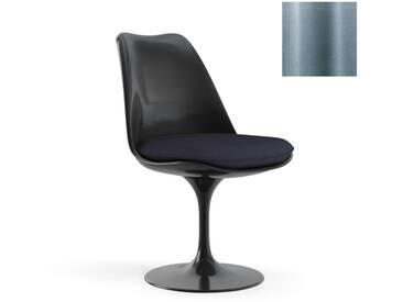 Knoll International Saarinen Tulip Stuhl - Coque dassise complètement rembourrée - KnollFixiert - Eva - Eva - bleu acier - noir