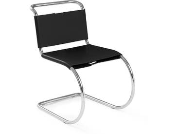 Knoll International Chaise MR Side  - Cuir de vachette noir