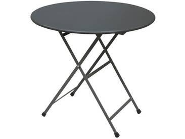 Emu Table pliante Arc en Ciel ronde - noir