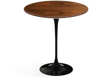 Knoll International Table dappoint Saarinen - Ø 51 cm - noir - Placage de palissandre Santos