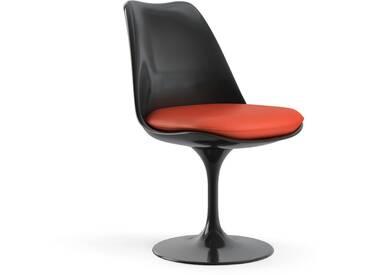 Knoll International Saarinen Tulip Stuhl - noir - Coussin dassise - KnollFixiert - Vinyle - Vinyl - orange