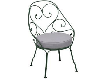 Fermob Fauteuil 1900 Cabriolet - gris flanelle - 02 vert cèdre