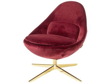Bloomingville Chaise Dawn, Rouge, Polyester