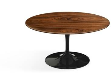 Knoll International Table basse Saarinen - Ø 91 cm - noir - Placage de palissandre Santos
