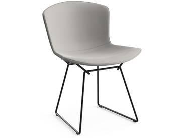 Knoll International Chaise Bertoia Side - Rembourré - Ultrasuede - gris - Rilsan revêtement noir