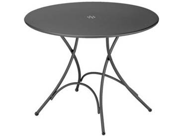 Emu Table pliante ronde Pigalle - fer ancien