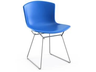 Knoll International Bertoia Plastic Side Chair - bleu - Chrome