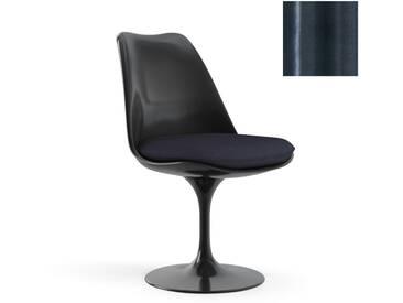 Knoll International Chaise Saarinen Tulip  - Eva - bleu nuit - noir - Coussin dassise - KnollFixiert - Eva