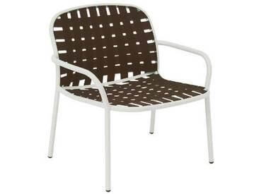 Emu Fauteuil lounge Yard - blanc/marron