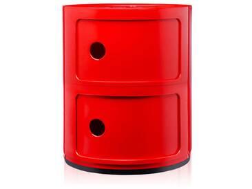 Kartell Meuble de rangement Componibili - 2 compartiments - rouge