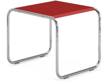 Knoll International Table Breuer Laccio  - Stratifié rouge - 55 x 45 x 48 cm