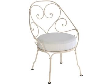 Fermob Fauteuil 1900 Cabriolet - gris blanc - 14 muscat