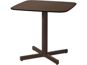 Emu Table Shine HPL - taupe - marron foncé