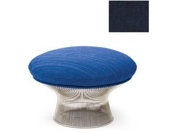 Knoll International Platner Ottoman - Nickel poli - Circa - bleu