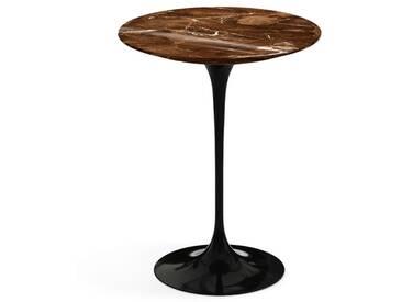 Knoll International Table dappoint Saarinen - noir - Marbre Brown Emperador-très brillant - Ø 41 cm