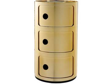 Kartell Meuble de rangement Componibili - 3 compartiments - gold