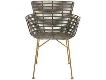Bloomingville Coast Lounge Chair, Vert, Rotin
