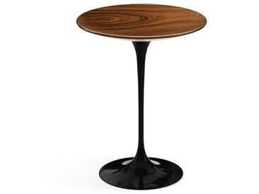 Knoll International Table dappoint Saarinen - Ø 41 cm - noir - Placage de palissandre Santos