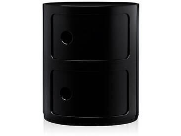 Kartell Meuble de rangement Componibili - 2 compartiments - noir