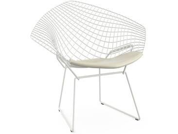 Knoll International Fauteuil Bertoia Diamond  - Vinyl - blanc - Rilsan revêtement blanc