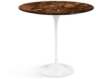 Knoll International Table dappoint Saarinen - Oval - blanc - Marbre Brown Emperador-satiné/mat