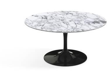 Knoll International Table basse Saarinen - Ø 91 cm - noir - Marbre Arabescato-satiné/mat