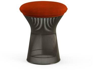 Knoll International Tabouret Platner  - Circa - rouge - peinture bronze métallisé