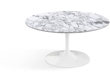 Knoll International Table basse Saarinen - Ø 91 cm - blanc - Marbre Arabescato-satiné/mat