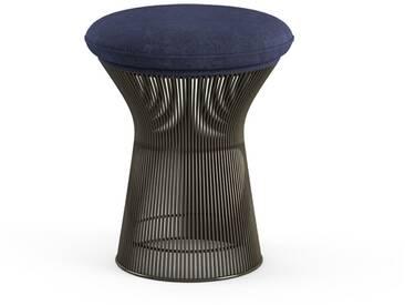 Knoll International Tabouret Platner  - Circa - bleu - peinture bronze métallisé