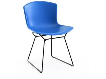 Knoll International Bertoia Plastic Side Chair - bleu - noir