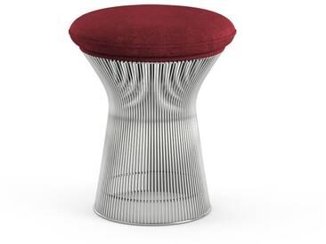 Knoll International Tabouret Platner  - Circa rouge bordeaux - Nickel poli