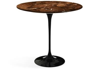 Knoll International Table dappoint Saarinen - Oval - noir - Marbre Brown Emperador-satiné/mat