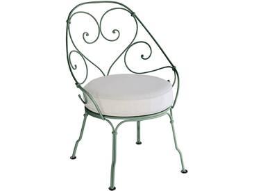 Fermob Fauteuil 1900 Cabriolet - gris blanc - 02 vert cèdre