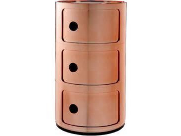 Kartell Meuble de rangement Componibili - 3 compartiments - cuivre